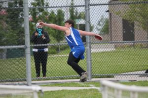 """GEHS junior Sam Stranathan will be one of the Blazers top returnees when the track season unfolds April 2 at SM South. He qualified for state with a discus toss of 135"""" 2 last spring. Submitted photo"""