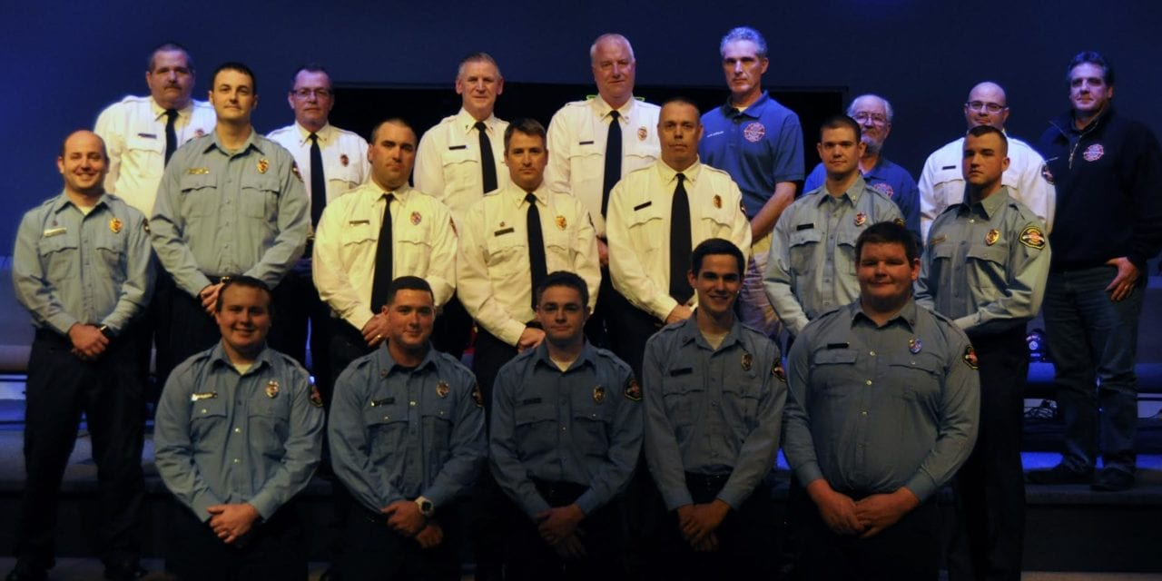 Fire District #1 hosts  badge pinning ceremony, promotions
