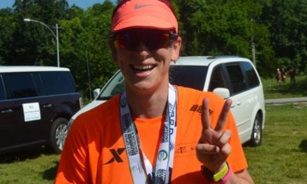 Rosa Jones competes in 33rd Annual Shawnee Mission Triathlon