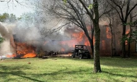Fire fighters respond to fire