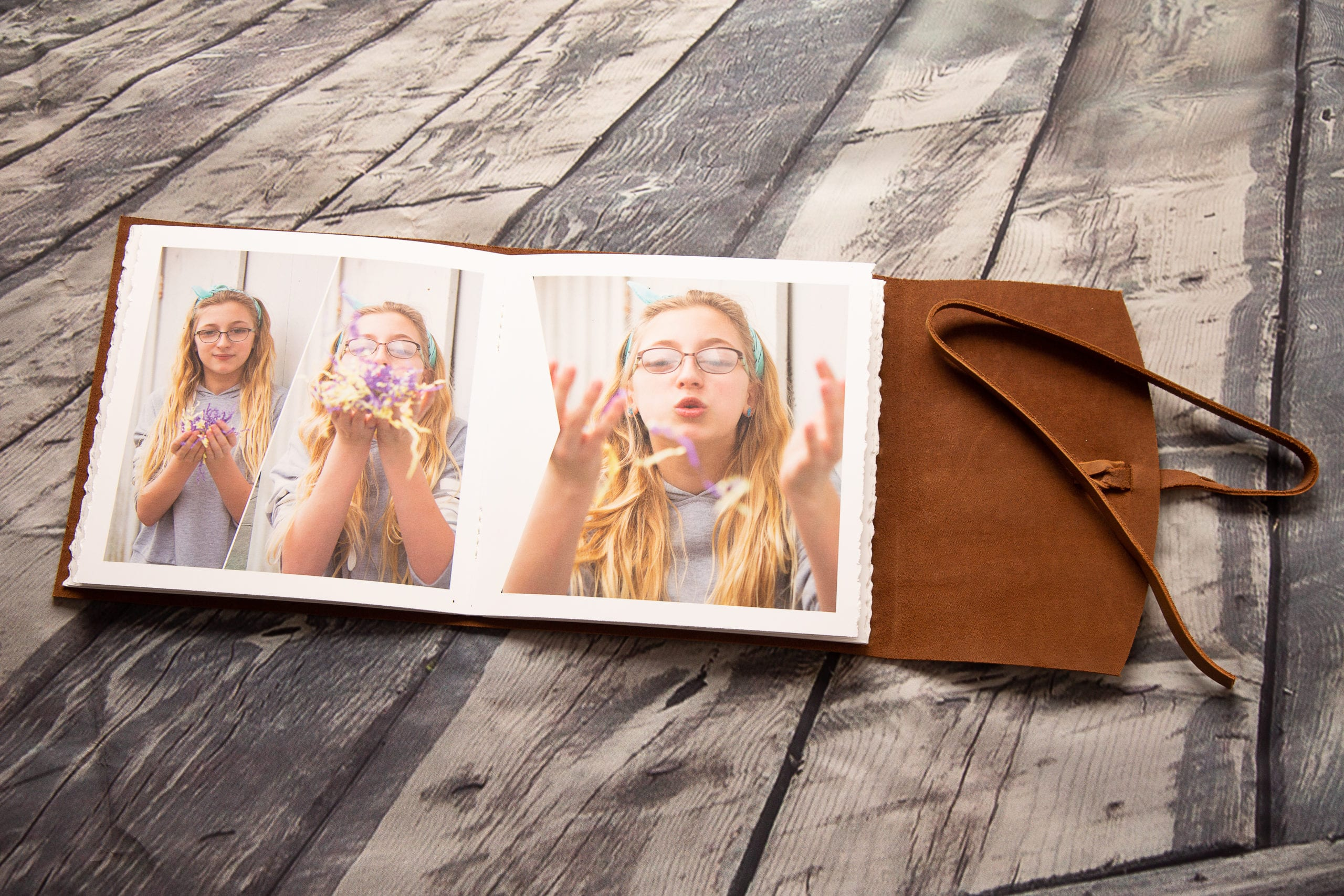 Tween Leather Bound Picture Book
